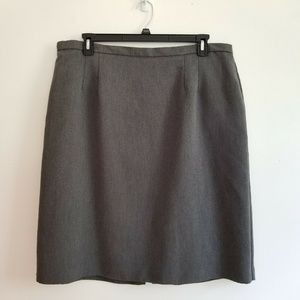 Lady Hazan Gray Career Skirt